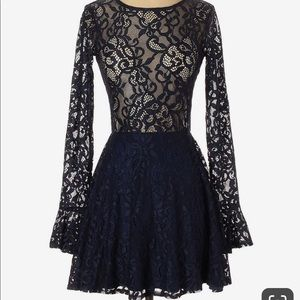 For Love And Lemons Blue Dress
